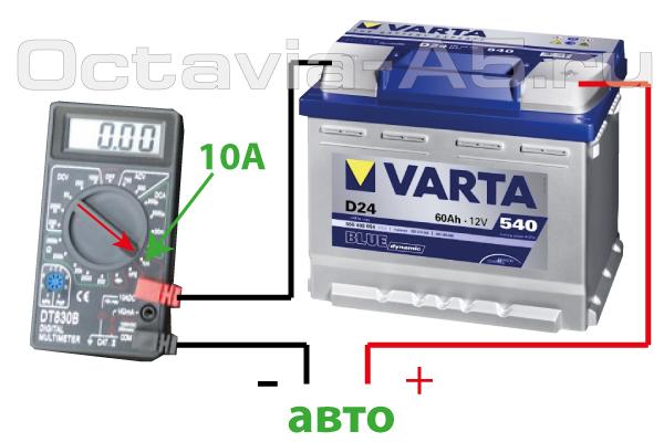 измерение тока потерь на шкоде октавия а5