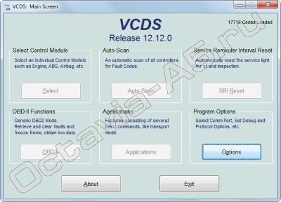 запуск программы VCDS 12.12