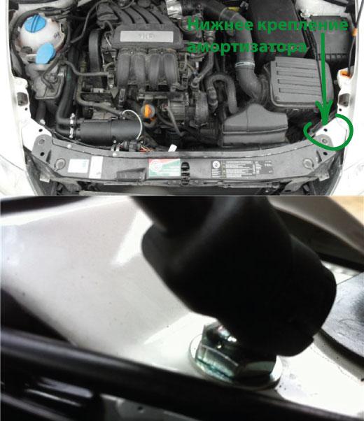 газовый амортизатор на капот