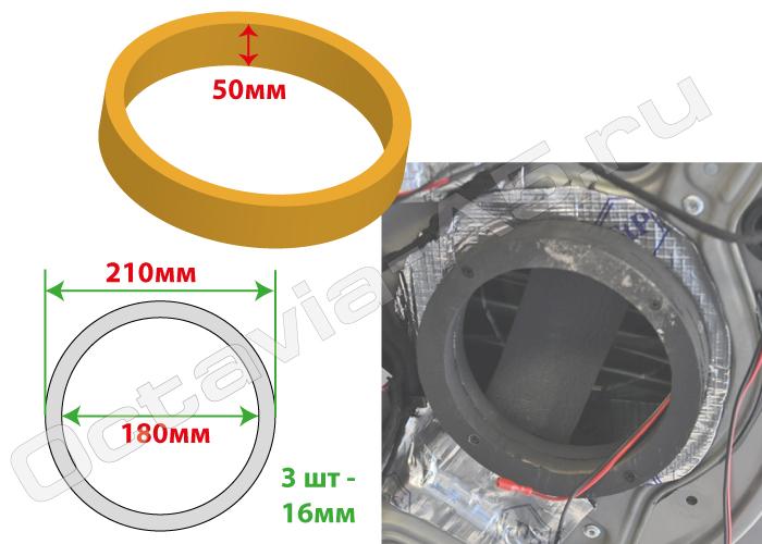 подиумы (проставочные кольца) под  динамики 8